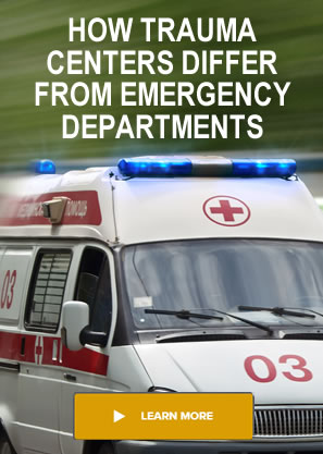 trauma center versus emergency department