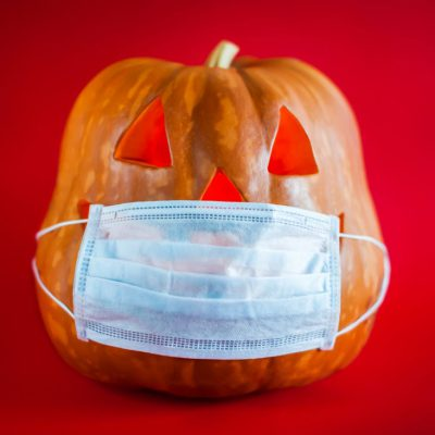 covid halloween pumpkin